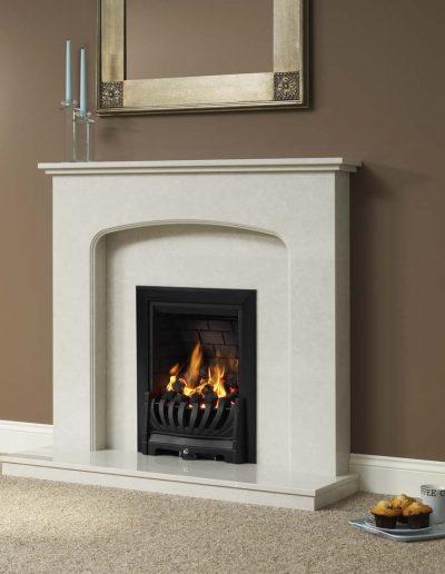 BeModern 42 Tasmin Micro Marble Fireplace