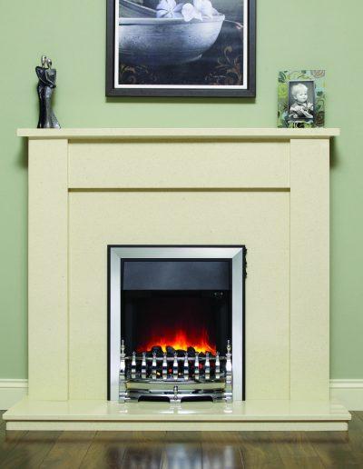 BeModern 48 Elda Marble Fireplace
