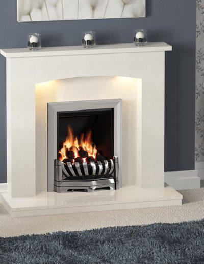 BeModern Isabelle Micro Marble Fireplace
