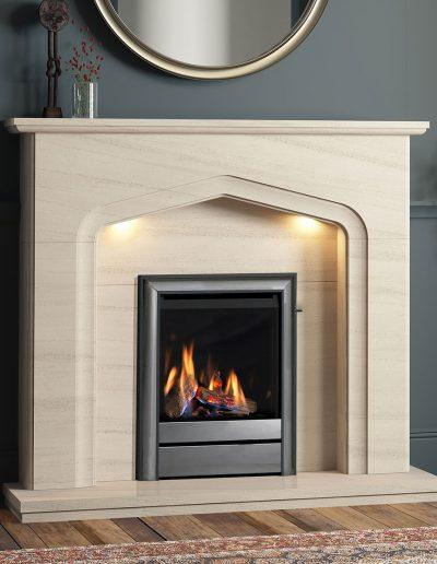 Elgin-&-Hall-48-Aurelia-Limestone-Fireplace-With-Lights