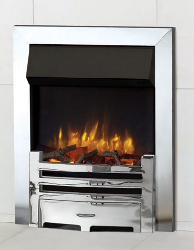 Logic-electric-arts-with-polished-steel-effect-frame-and-front-and-log-effect-fuel-bed